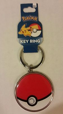 Pokemon Metal Pokeball Key Chain Brand New