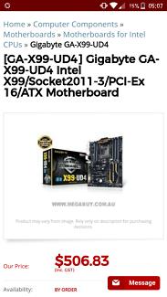 Gigabyte X99-UD4 Bargin!!