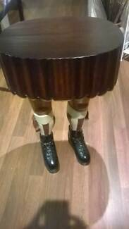 Rare - Old Hand Painted Scottish Kilt Table Ellenbrook Swan Area Preview