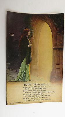 WW1 Great War-Time Vintage Bamforth Song Postcard Methodist Hymnal Wesley Hymn
