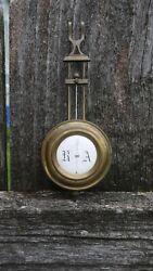 antique german R&A veinna regulator wall clock pendulum
