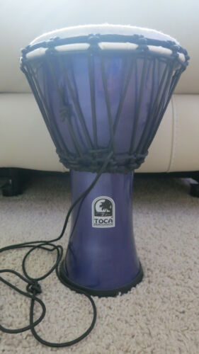 Purple Metallic Toca Hand Drum Djembe, 7 Inch Diameter