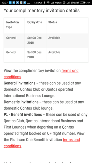 2 Qantas Lounge Digital Passes (Exp 6 Mar 2019)