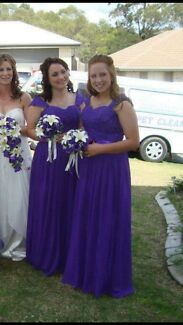 Purple bridesmaid dresses - size 12 -14. There are 2 available   Collingwood Park Ipswich City Preview