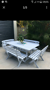 Outdoor bench seats setting Palm Beach Gold Coast South Preview