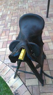 Australian leather stock saddle