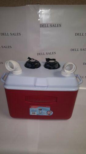 """Swamp cooler  48 qt 48 quart Portable Fan Air Conditioner twin 4"""" USB power Fans"""
