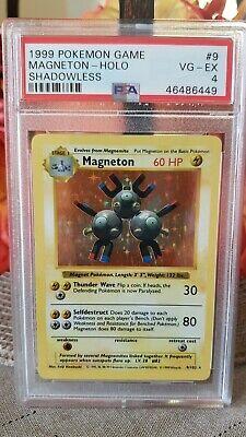 Shadowless Base Set Magneton 9/102- PSA 4 VG-EX