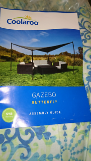 Gazebo butterfly 4x4m stand alone. Comes with posts and fittings
