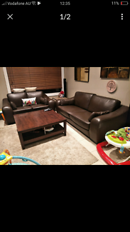 Brown leather lounge chairs sofas couches