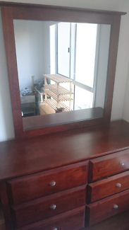 Timber Dressing Table / Dresser for sale.