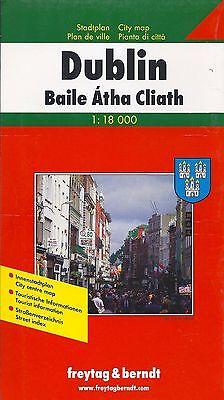 Map of Dublin, Ireland, by Freytag & Berndt
