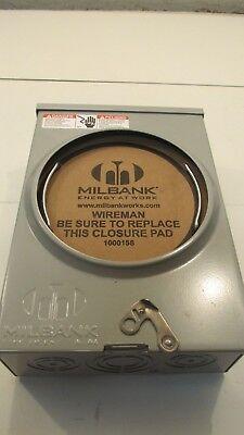Milbank U8435-xl-tg-hsp Ringless Single Position Meter Socket 600 Volt Ac K4