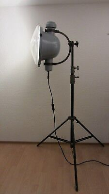 XXL Scheinwerfer emailliert Tripod Lampe exklusiv maritimes Design