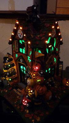 RARE Danbury Mint Pittsburgh Steelers NFL Football Halloween Light Haunted House