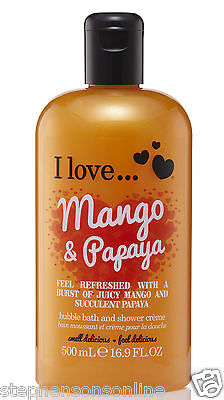 I Love... Mango & Papaya Bubble Bath And Shower Creme 500ml