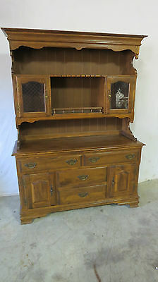 Heywood Wakefield Hutch Cupboard Cabinet Maple Set
