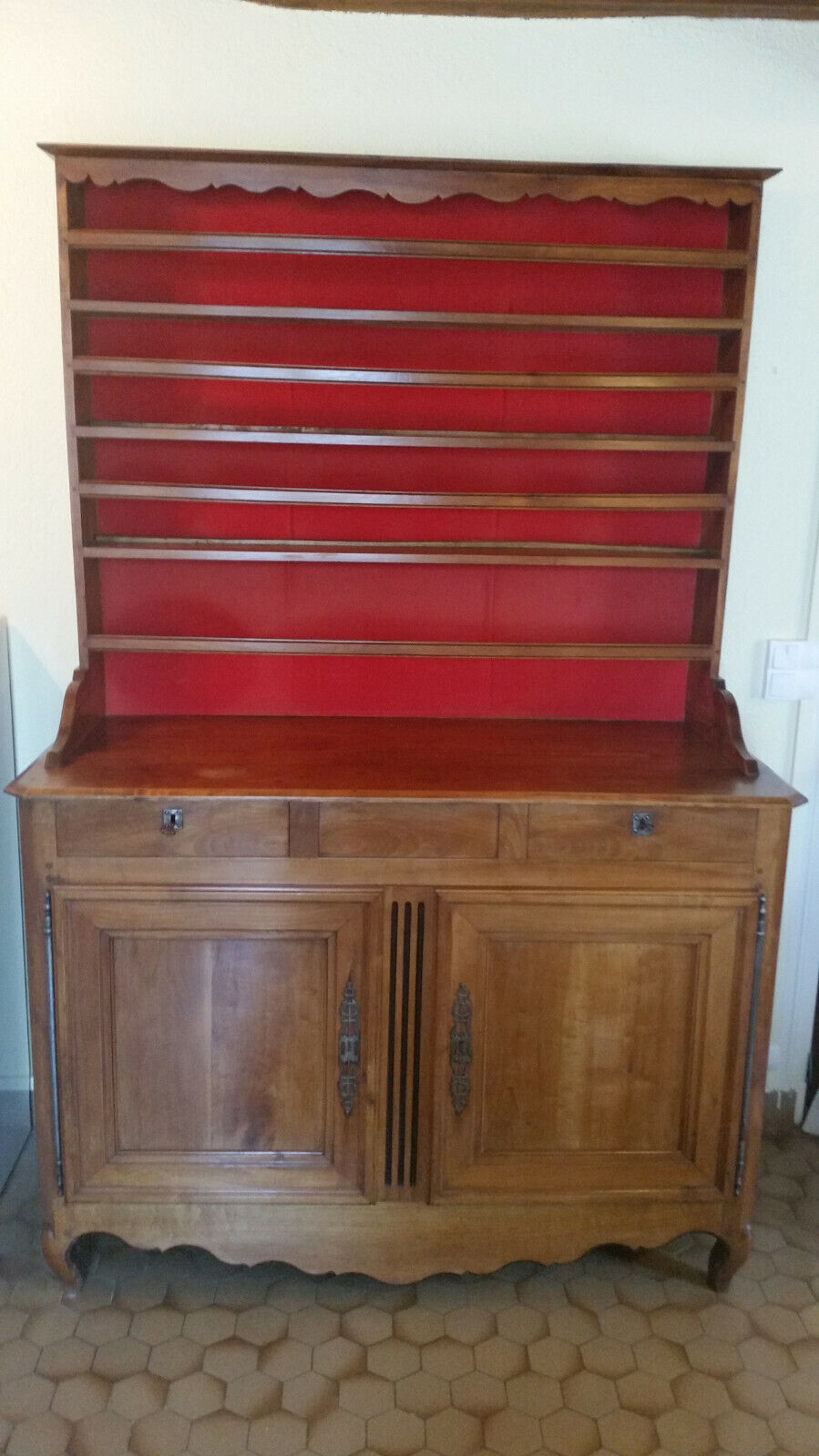Ensemble 2 corps buffet vaisselier ancien
