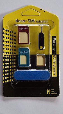 8 in 1 Nano Sim Karten Adapter Set Nadel Feile iPhone 4 5 6 Samsung HTC LG BUNT Iphone Sim-karten-adapter