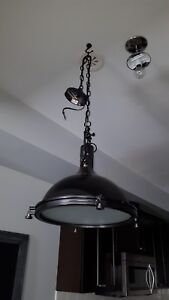 Industrial Chic Hanging Pendant Light