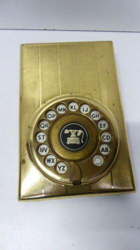 VINTAGE STRATTON GOLD METAL BRASS DIALPAD TELEDEX TELEPHONE NUMBER FILE STORAGE