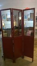 NEW Red Mirrored Folding Room Divider/Privacy Screen Noosaville Noosa Area Preview