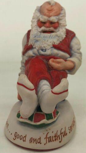 1990 Simpich Number 4 Santa Figure Figurine