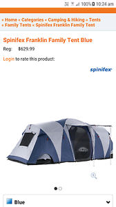 Spinifex Franklin Family Tent (9person) and 3 single stretchers Sinagra Wanneroo Area Preview