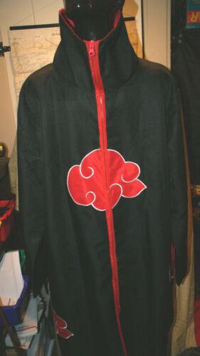 Naruto Akatsuki Uchiha Itachi Costume Robe Cloak for Cosplay Size Teen L Large