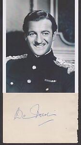 David Niven  Autograph, Original Hand Signed Album Page