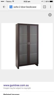 2 door bookcase with glass doors  Wagga Wagga 2650 Wagga Wagga City Preview