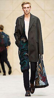 SALE!!! $2,495 Burberry Prorsum 36 46 Parchment Wool Coat Trench Jacket Coat Men