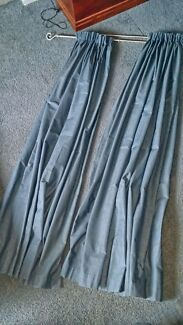 2 pair of pencil pleat block out curtains. Blue in colour Craigmore Playford Area Preview