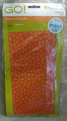 "AccuQuilt GO! Fabric Cutting Die 55010 ~ 5"" Square ~ NEW"
