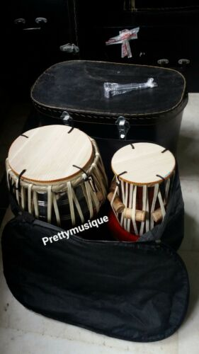 TABLA WOODEN OF STEEL PLATING + GIG BAG +CASE +TUNER + RING STAND +FREE SHIPPIN