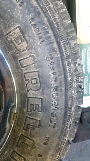 Toyota Hilux sr5 rim and tyre