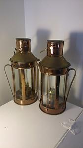 Vintage rustic looking copper  kerosene / oil  lamp x 2 Albany Creek Brisbane North East Preview