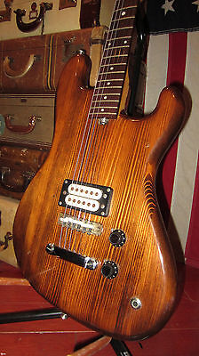 Vintage 1970's Eko Co Solid Body Electric Guitar Rare Guitar Humbucker Screams