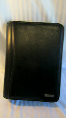 Classic Franklin Covey Heritage Organizer Planner Back Zip Pocket Faux Leath