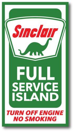 SINCLAIR DINO FULL SERVICE OUTDOOR SINCLAIR GASOLINE GAS PUMP STICKER