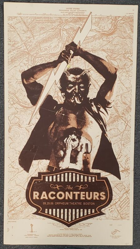 The Raconteurs Orpheum Theatre Boston 2006 CONCERT POSTER NUMBERED Jack White