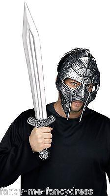 Herren Römischer Gladiator Krieger Soldat Kostüm Helm Hut & Schwert Satz