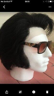 ELVIS IMPERSONATOR  PROFESSIONAL HUMAN HAIR L FRONT WIG FOR JUMPSUIT - Pro Elvis Jumpsuit