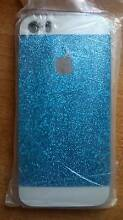 iPhone 5 5S soft gel blue glitter case Balwyn North Boroondara Area Preview