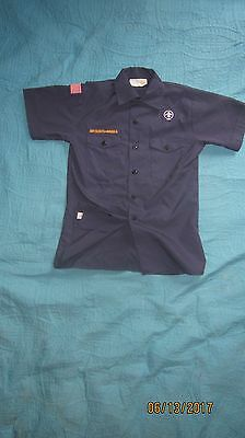 BSA CubScout Blue Uniform Shirt Youth Large SS 67%Cotton/33% Poly