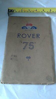 Rover 75 Saloon, 1952. UK Brochure.