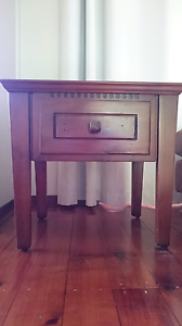 Bedside tables x2 - solid wood - excellent condition Lisarow Gosford Area Preview