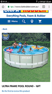 16ft round pool and cake steps Elizabeth Park Playford Area Preview