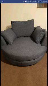 Plush Snuggle Swivel Chair