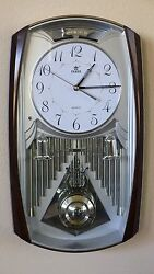 Westminster Chime Pendulum Wall Clock-6122 Silver